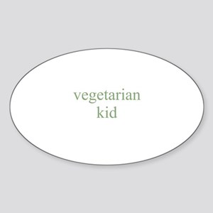 vegetarian kid Oval Sticker