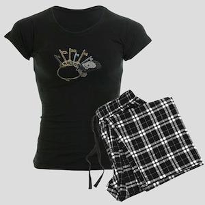 Keys and Police Badge Women's Dark Pajamas