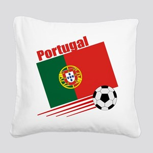 Portugal Soccer Team Square Canvas Pillow