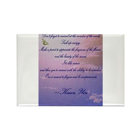 GRATITUDE POEM Rectangle Magnet