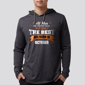 The Best Are Born In October Mens Hooded Shirt