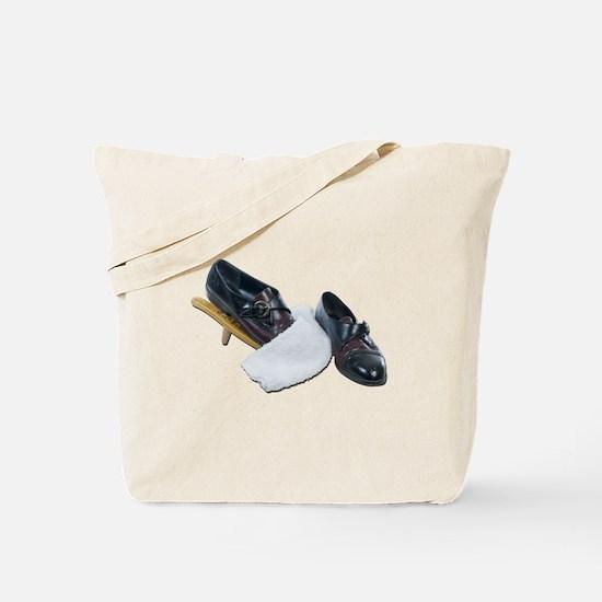 Shoe Shine and Wedge Tote Bag