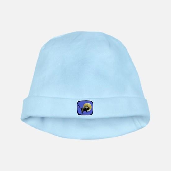 Witch Squirrel Cat Blue baby hat