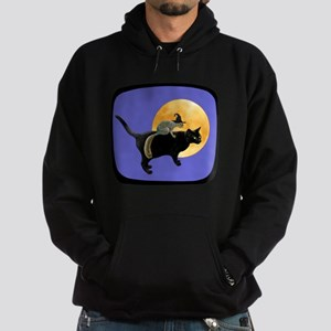 Witch Squirrel Cat Blue Hoodie (dark)