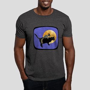 Witch Squirrel Cat Blue Dark T-Shirt