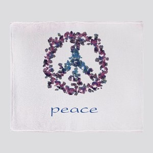 Daydream Flower Peace - Peace Throw Blanket