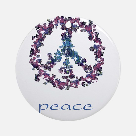 Daydream Flower Peace - Peace Ornament (Round)