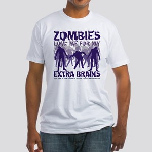 Zombies Love Me Fitted T-Shirt