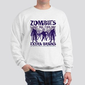 Zombies Love Me Sweatshirt