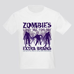 Zombies Love Me Kids Light T-Shirt