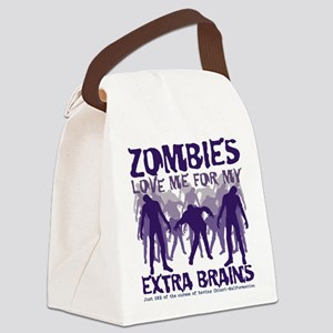 Zombies Love Me Canvas Lunch Bag