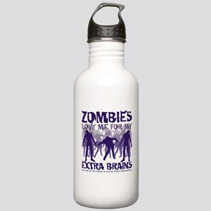 Zombies Love Me Stainless Water Bottle 1.0L