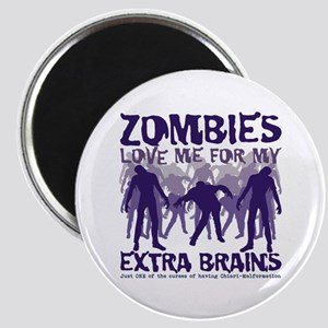 Zombies Love Me Magnet
