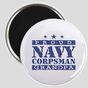 Navy Corpsman Grandpa Magnet