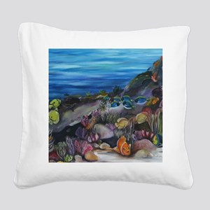 Tropical Nursery 5x5 Square Canvas Pillow