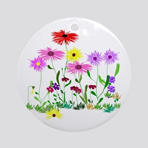 Flower Bunch Round Ornament