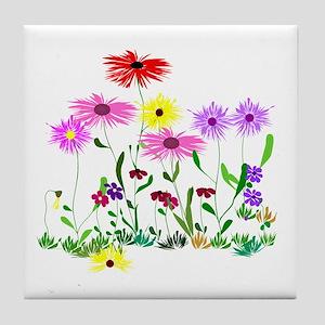 Flower Bunch Tile Coaster