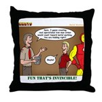 Metal Working Throw Pillow