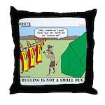 Bugling Throw Pillow