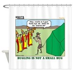 Bugling Shower Curtain