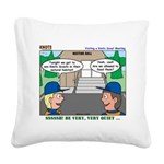 Moving Up Square Canvas Pillow