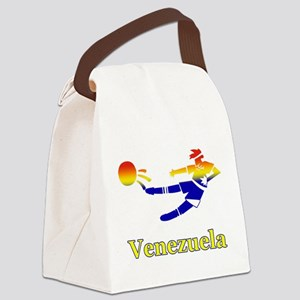 Venezuela Soccer Player Canvas Lunch Bag