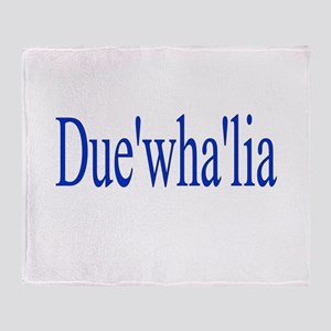 Duewhalia Throw Blanket