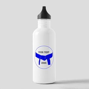 Custom Martial Arts Blue Belt Water Bottle
