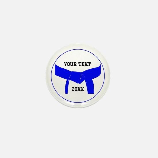 Custom Martial Arts Blue Belt Mini Button