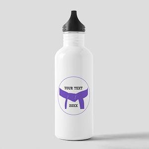 Custom Martial Arts Purple Belt Water Bottle