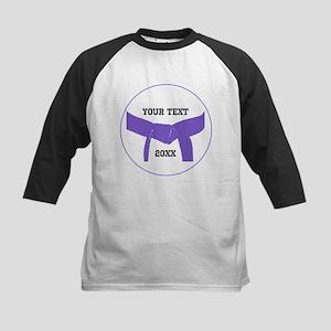 Custom Martial Arts Purple Belt Kids Jersey