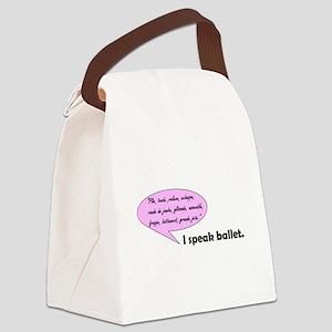 I Speak Ballet Canvas Lunch Bag