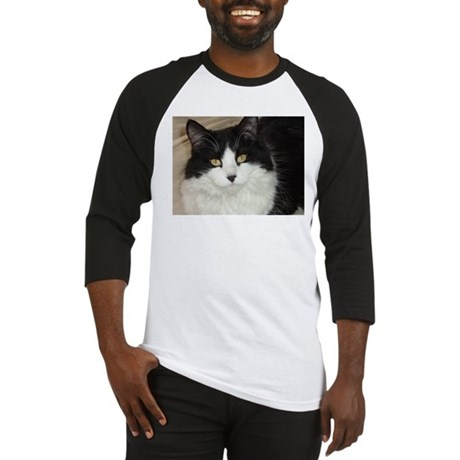 Black and White Cat Baseball Jersey