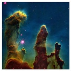 Gas pillars in the Eagle Nebula Poster