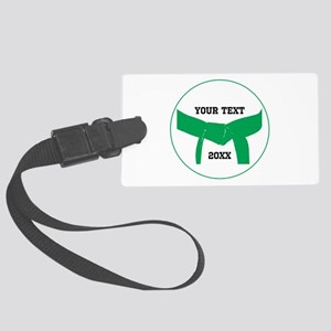 Custom Martial Arts Green Belt Large Luggage Tag