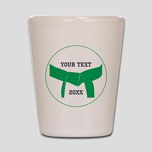 Custom Martial Arts Green Belt Shot Glass