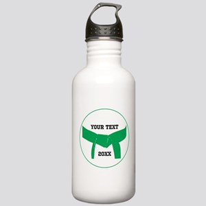 Custom Martial Arts Green Belt Water Bottle