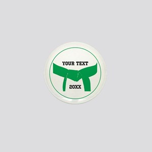 Custom Martial Arts Green Belt Mini Button