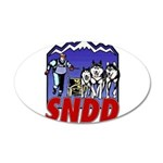 snddlogo98big 20x12 Oval Wall Decal