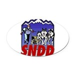 snddlogo98big Oval Car Magnet