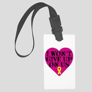 I Won't Give Up: Yellow Ribbon Large Luggage Tag