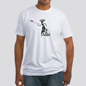 Kokopelli and Dog Fitted T-Shirt