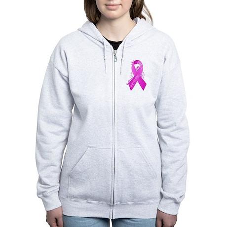 Felpa Con Cappuccio Con Zip Delle Donne Breast Cancer Survivor Ps7Nwc0