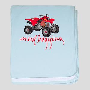 Mud Bogging ATV baby blanket