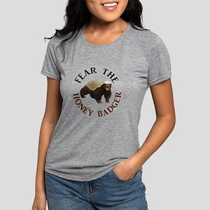 Honey Badger Fear Womens Tri-blend T-Shirt
