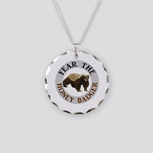 Honey Badger Fear Necklace Circle Charm