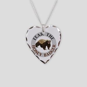 Honey Badger Fear Necklace Heart Charm