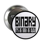 """Binary Is Easy 2.25"""" Button (10 pack)"""