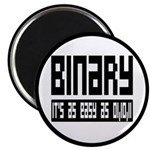 """Binary Is Easy 2.25"""" Magnet (10 pack)"""
