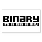 Binary Is Easy Sticker (Rectangle)
